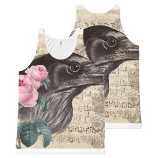 Regata Com Estampa Completa Música do corvo