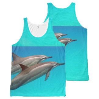 Regata Com Estampa Completa Natação com golfinhos
