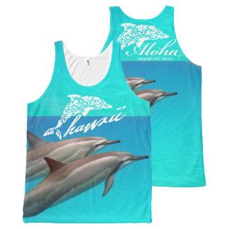 Regata Com Estampa Completa Natação com os golfinhos em Havaí
