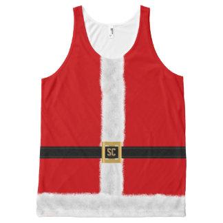 Regata Com Estampa Completa Natal festivo do terno vermelho engraçado do papai
