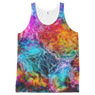 Regata Com Estampa Completa Nebulosa abstrata da lava do arco-íris