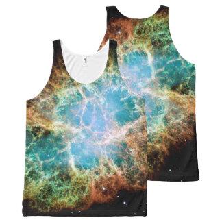 Regata Com Estampa Completa Nebulosa alaranjada & verde