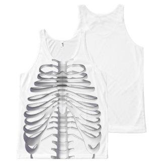 Regata Com Estampa Completa O esqueleto desossa a camisola de alças de Ribcage