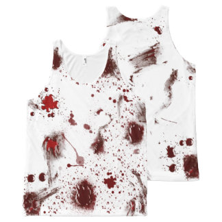 Regata Com Estampa Completa O sangue Splattered a camisa