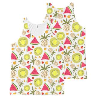 Regata Com Estampa Completa O verão frutifica camisola de alças unisex do