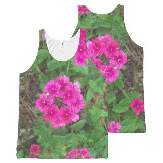 Regata Com Estampa Completa O verbena cor-de-rosa bonito floresce a foto