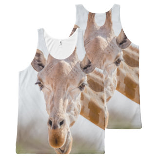 Regata Com Estampa Completa Olhar directamente nos olhos com o girafa