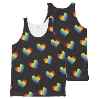 Regata Com Estampa Completa Orgulho do teste padrão LGBT dos corações do