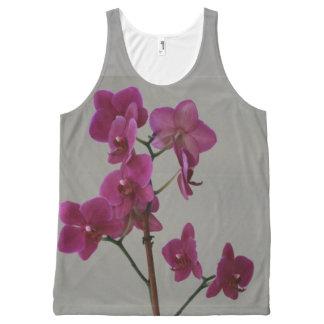 Regata Com Estampa Completa Orquídeas roxas
