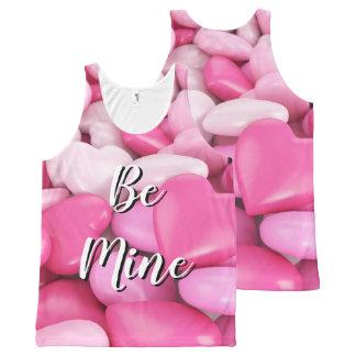 Regata Com Estampa Completa Os corações cor-de-rosa doces dos doces sejam