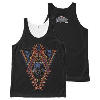 Regata Com Estampa Completa Painel tribal dos guerreiros da pantera preta |