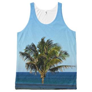 Regata Com Estampa Completa Palmeira sobre o oceano