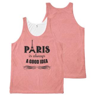 Regata Com Estampa Completa Paris é sempre uma boa ideia