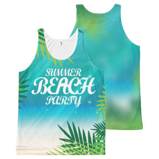 Regata Com Estampa Completa Partido da praia do verão