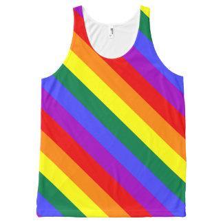 Regata Com Estampa Completa Personalize sua camisola de alças unisex do