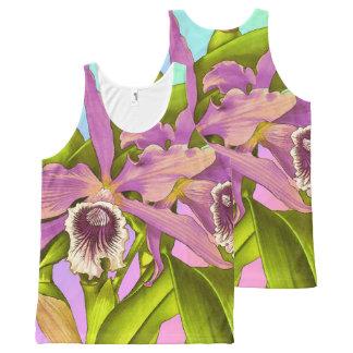 Regata Com Estampa Completa Pop da orquídea