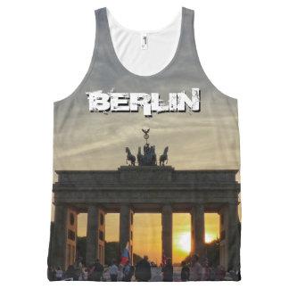 Regata Com Estampa Completa Porta de Brandemburgo, por do sol, BERLIM