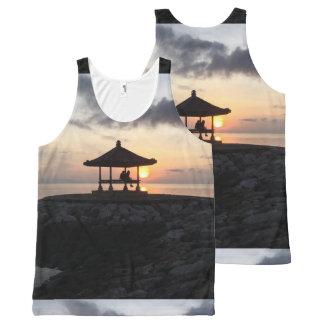 Regata Com Estampa Completa Praia para um nascer do sol de Bali