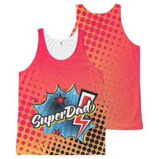 Regata Com Estampa Completa Presente da camisola de alças de SuperDAD,