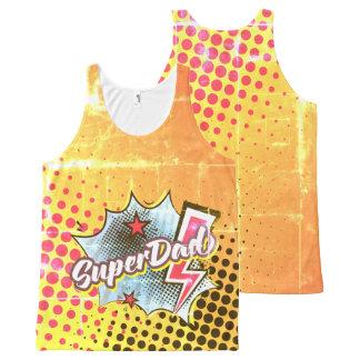 Regata Com Estampa Completa Presente da camisola de alças de SuperDAD, VINTAGE