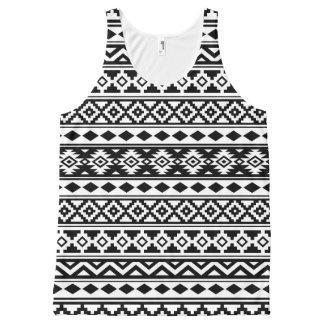 Regata Com Estampa Completa Preto & branco astecas de IIb do teste padrão da