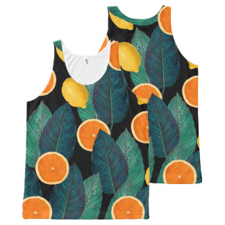Regata Com Estampa Completa preto dos limões e das laranjas