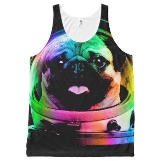 Regata Com Estampa Completa Pug do astronauta - pug da galáxia - espaço do pug