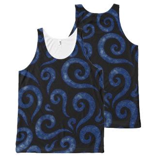 Regata Com Estampa Completa Redemoinhos Textured azuis