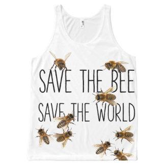 Regata Com Estampa Completa Salvar a abelha! Salvar o mundo! Vive o design