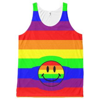Regata Com Estampa Completa smiley do arco-íris