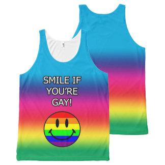 Regata Com Estampa Completa Sorriso se você é arco-íris alegre