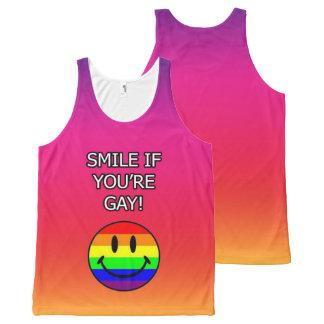 Regata Com Estampa Completa Sorriso se você é rosa do gay