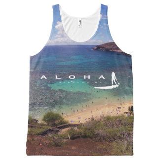 Regata Com Estampa Completa Surfista de Havaí da baía de Hanauma