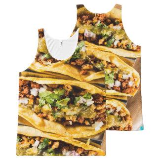 Regata Com Estampa Completa Tacos
