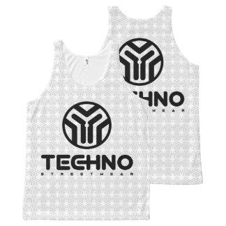 Regata Com Estampa Completa Techno Streetwear - logotipo - camisola de alças