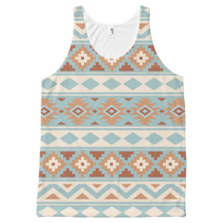 Regata Com Estampa Completa Terracottas de creme azuis astecas de Ptn IIIb da