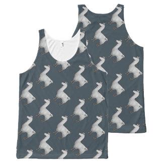 Regata Com Estampa Completa Teste padrão concreto da camisola de alças do lama
