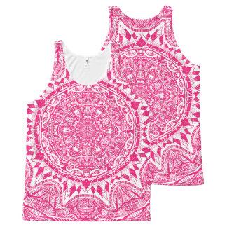 Regata Com Estampa Completa Teste padrão cor-de-rosa da mandala