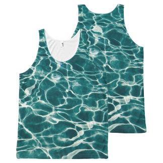 Regata Com Estampa Completa Teste padrão da água da piscina