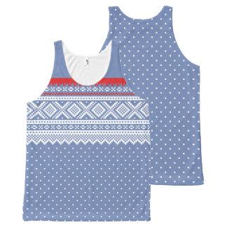 Regata Com Estampa Completa Teste padrão da camisola de Mariusgenser