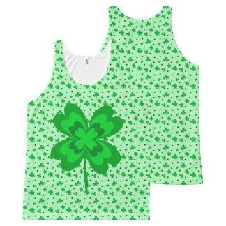 Regata Com Estampa Completa Teste padrão irlandês afortunado verde Pastel dos