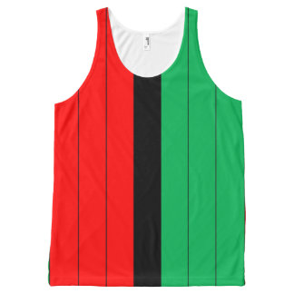 Regata Com Estampa Completa Teste padrão listrado verde preto vermelho de