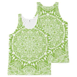 Regata Com Estampa Completa Teste padrão verde da mandala