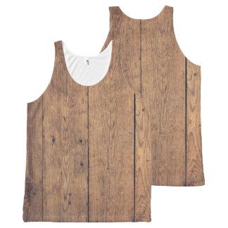 Regata Com Estampa Completa Textura de madeira