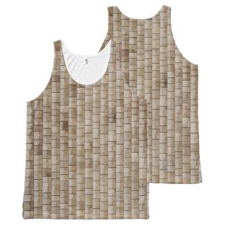 Regata Com Estampa Completa textura de madeira bege da parede do grunge