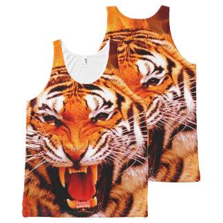 Regata Com Estampa Completa Tigre e chama
