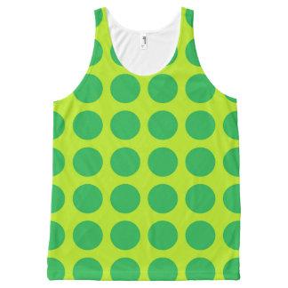 Regata Com Estampa Completa Verde limão verde das bolinhas