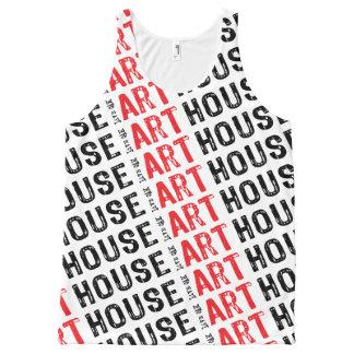 Regata Com Estampa Completa Vermelho da casa da arte