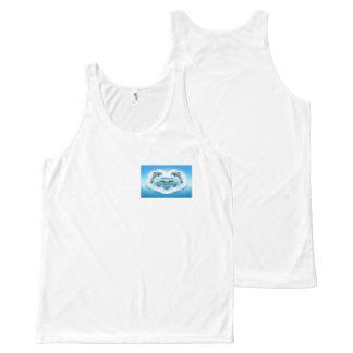Regata Com Estampa Completa Veste do golfinho dos azuis bebés