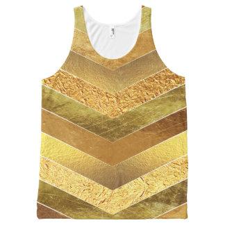 Regata Com Estampa Completa Vigas na moda da folha de ouro do falso